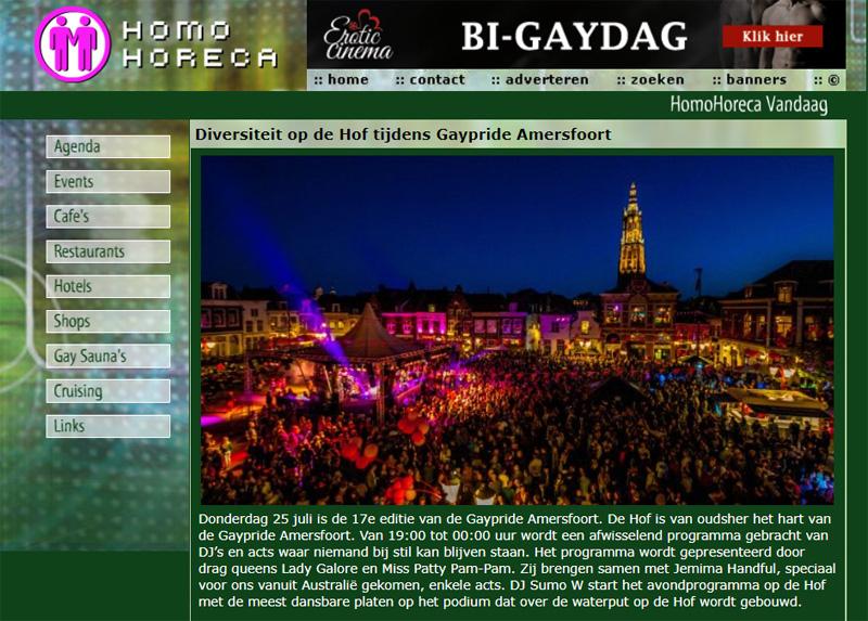 De oude website homohoreca.nl